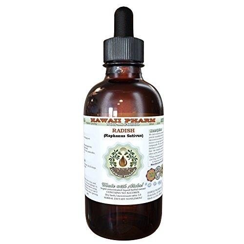 Radish Alcohol-FREE Liquid Extract, Radish (Raphanus Sativus) Dried Sprouting Seed Glycerite Herbal Supplement 2 oz (Daikon Radish Extract compare prices)