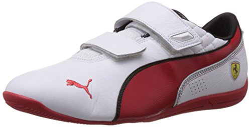 Puma-Mens-Drift-Cat-6-SF-AC-Flash-White-Rosso-Corsa-Leather-Sneakers-10UKIndia-445EU