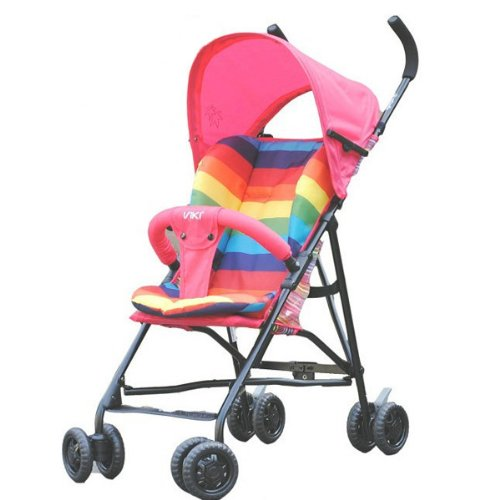 New Waterproof Baby Carrier Carriage Cart Rainbow Pad Cotton Cushion