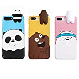 Aikeduo For 3D Cartoon Animals Cute We Bare Bears Soft Silicone Case Cover Skin 3pcs sell For iPhone6/ 6s/6s plus iPhone7 /7plus case (iPhone6plus/6s plus)