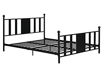 Daybed With Trundle / No box Spring Required / Premium Sturdy Slats w/ Rich Jet Black Finish / Full and Queen Metal Bed Frame