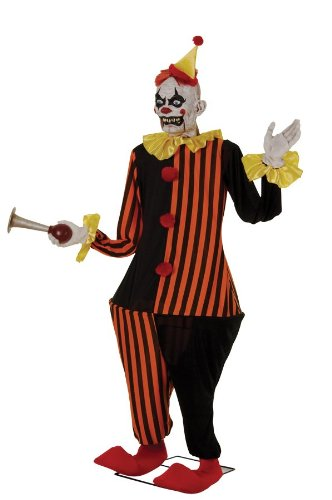 HONKY THE CLOWN 6FT LIFESIZE ANIMATRONIC Animated Halloween Prop with Sound MR124183
