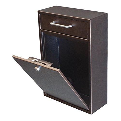 Epoch Design Locking Drop Box Wall Mounted Mailbox Bronze