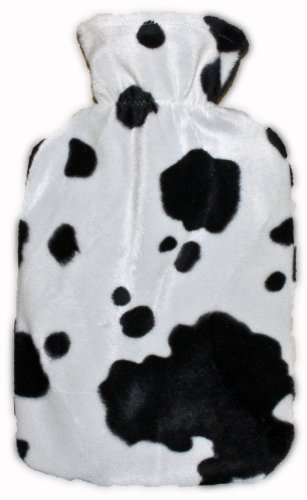 Warm Tradition Cow Print Covered Hot Water Bottle - Bottle Made In Germany, Cover Made In Usa