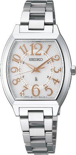 [セイコー]SEIKO 腕時計 LUKIA ルキア ソーラー電波 ホワイト SSVE049 レディース