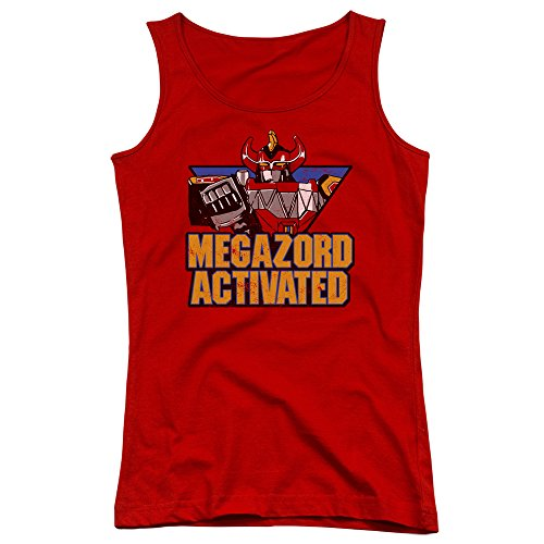 Mighty Morphin Power Rangers Megazord Activated Juniors Tank Top Shirt