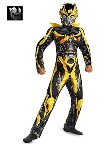 [Mygems Party Holloween Transformers Bumblebee Classic Muscle Costume for Boys] (Eye Makeup For Bumble Bee Costume)