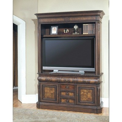 Cheap Andria 69″ TV Stand with Hutch in Antique Pecan (AND600A Set)