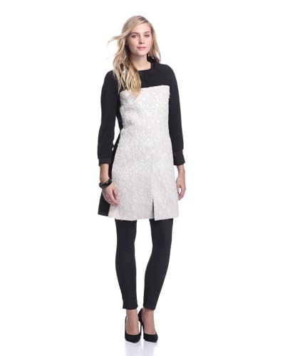 Rachel Roy Women's Mod Car Coat  [Natural White]