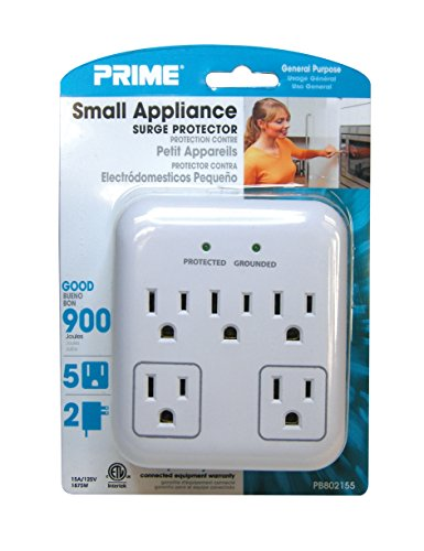 Wire & Cable PB802155 5-Outlet Small Appliance Appliance Surge ...