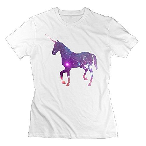 [Tee-shirts Unicorn Lady Cozy] (Beetle Juice Wig)