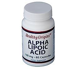buy Healthy Origins Alpha Lipoic Acid Multi Vitamins, 100 Mg, 60 Count
