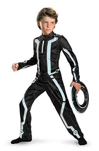 Boys Tron Legacy Deluxe Kids Child Fancy Dress Party Halloween Costume