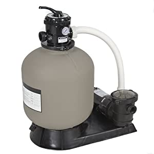 Best choice products pro above ground swimming pool pump system 4500gph 19 sand for Swimming pool filter and pump systems