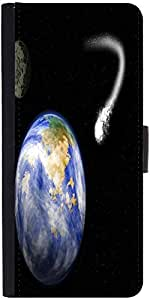 Snoogg Comet Heading For Earth Designer Protective Flip Case Cover For Samsun...