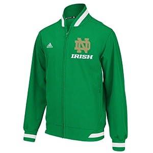 NCAA adidas Notre Dame Fighting Irish Sideline Transition Jacket - Green by adidas