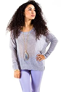 Cecieco Collection Knitted Loose Sweater in Grey