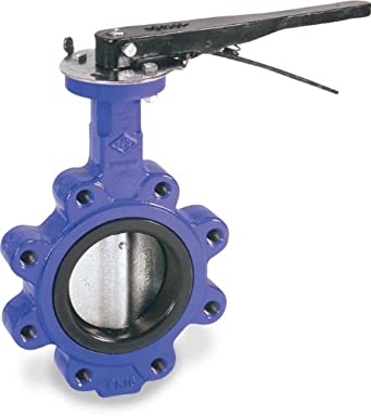 Sharpe Valves 17 Series Ductile Iron Butterfly Valve, Lug Style, Stainless Steel 316 Disc, EPDM Seat, Lever Handle