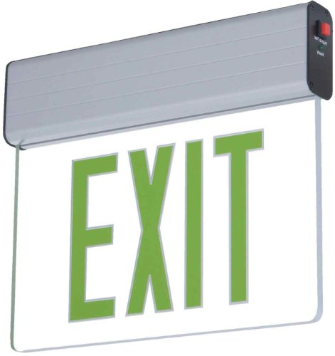 Sure-Lites EUS70G Self-Powered LED Exit Sign, Green Letters