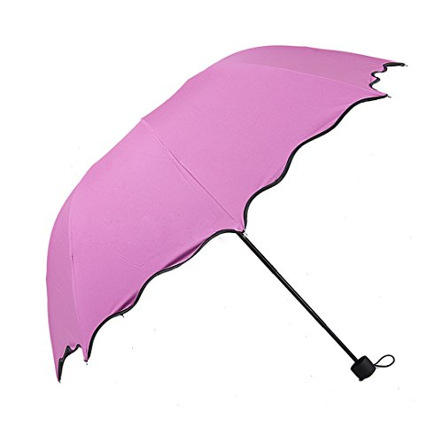 marca west anti uv parasol flower three folding sun rain windproof umbrella purple home garden. Black Bedroom Furniture Sets. Home Design Ideas