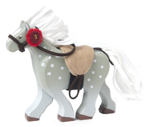 Budkins Grey Horse With Saddle - 1