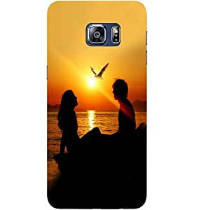 Casotec Couple Sunset Design Hard Back Case Cover for Samsung Galaxy S6 edge Plus