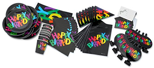 LolliZ Birthday Party Dark Color  Theme (Set for 8)