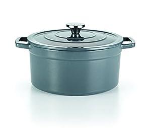 t fal e63146 enamel cast iron nonstick dishwasher and oven safe stock pot cookware. Black Bedroom Furniture Sets. Home Design Ideas