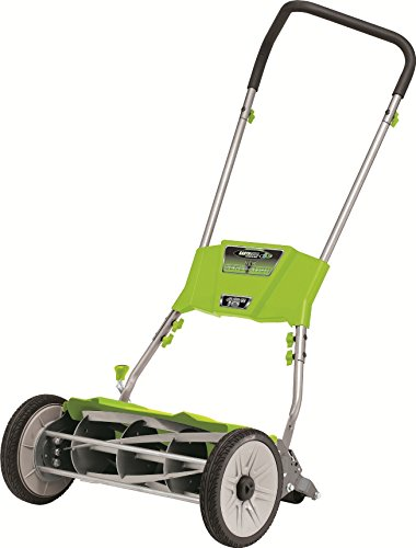 Earthwise 515-18 Quiet Cut Push Reel Lawn Mower, 18-Inch image