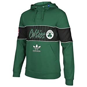 Boston Celtics adidas Originals Snap Pullover Hooded Sweatshirt - Green from Adidas Originals
