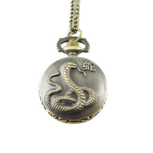 mapofbeauty-bronze-chinese-zodiac-snake-pattern-case-quartz-pocket-watch