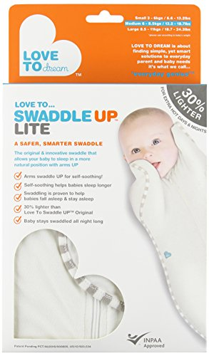 Love To Dream Swaddle UP - Lite- Cream- Medium 13.2- 18.7 lbs