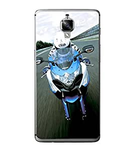 Racing Biker 2D Hard Polycarbonate Designer Back Case Cover for OnePlus 3 :: OnePlus Three