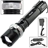 WindFire CREE XM-L Q5 LED 3 Modes 400 Lumens LED Rechargeable Flashlight Torch 18650 Battery Focus Adjustable Lamp Flashlight New Police SG Mode Cree Led Water Resistance Design Lamp Flashlight Torch with AC Charger Car Charger 18650 Battery
