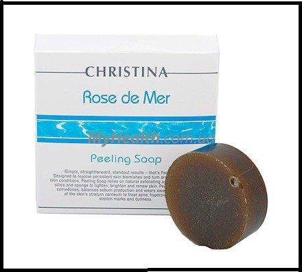 NEW CHRISTINA Cosmetics ROSE DE MER Peeling Soap 50 gr 1.7oz