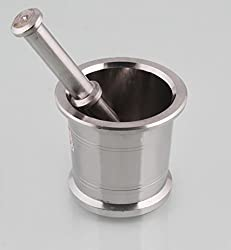 Stainless Steel Mortar and Pestle (Size 1 No)