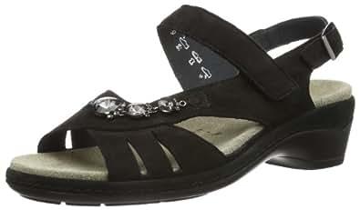 Semler Heidi, Damen Knöchelriemchen Sandalen mit Keilabsatz, Schwarz (001-schwarz), 37.5 EU (4.5 Damen UK)