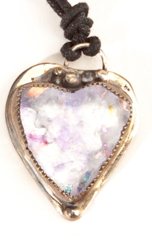 Necklace: Clear Opal Heart