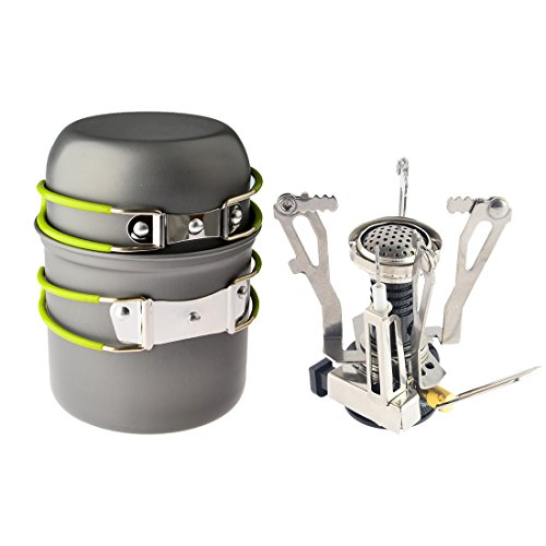 Petforu Camping Propane Canister Stove with Cooking Tool Set, 2 Piece (Compact Camp Stove compare prices)