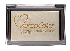 Tsukineko Full-Size VersaColor Ultimate Pigment Inkpad, White from Tsukineko