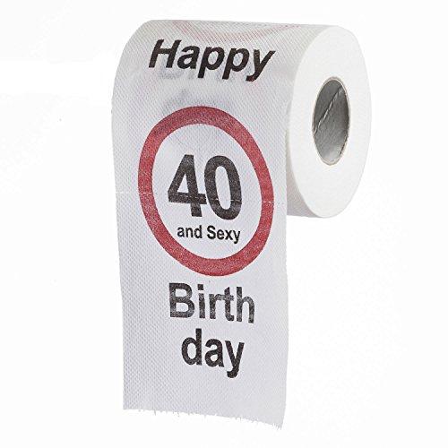 lustiges fun klopapier zum 40 geburtstag toilettenpapier. Black Bedroom Furniture Sets. Home Design Ideas
