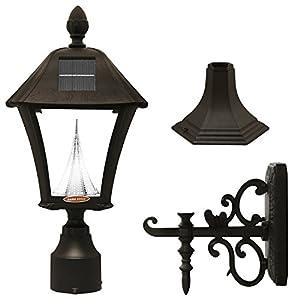 com gama sonic baytown solar outdoor led light fixture pole post. Black Bedroom Furniture Sets. Home Design Ideas