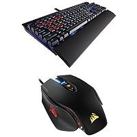 Corsair Gaming K70 Keyboard, Cherry MX Red, Blue LED and Corsair Gaming M65 PRO RGB Gaming Mouse