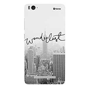 Customizable Hamee Original Designer Cover Thin Fit Crystal Clear Plastic Hard Back Case for OnePlus X / One Plus X / 1+X (Grey Wanderlust)