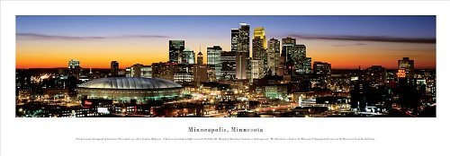 Minneapolis, Minnesota - Panoramic Print - Poster