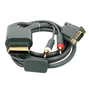 Importer520(TM) Gold Plated 6ft Premium VGA Cable w/ Digital Optical Audio Port for Microsoft Xbox 360 to TV equipment For PC HDTV