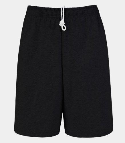 fruit-of-the-loom-mens-jersey-short-black-xl