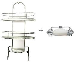 Set of Sterling Bathroom Shelf & Soap Dish