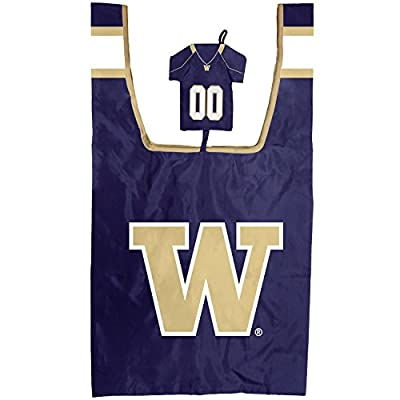 Washington Huskies UW Reusable Grocery Bag with Jersey Style Storage Pouch
