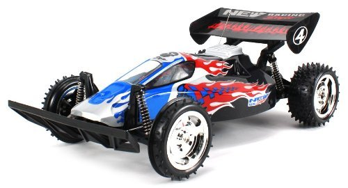 Flaming Skull Raider Electric Rc Buggy Big Size 1:10 Scale Off Road Ready To Run Rtr High Performance, Front Wheel Independent And Hinged Rear Suspension (Colors May Vary)